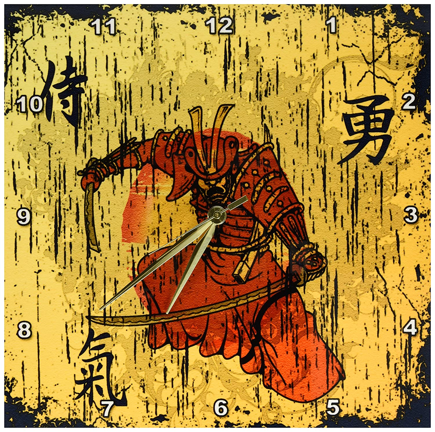 Amazon.com: 3dRose Japanese Samurai with Swords Kanji Brave Energy ...
