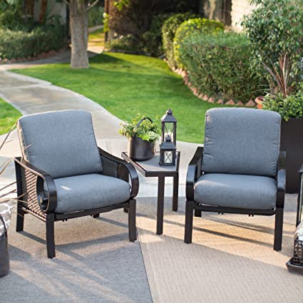 Brown Modern 3 Piece Wicker Patio Chat Set | Stylish Contemporary Furniture  Is Perfect To Any