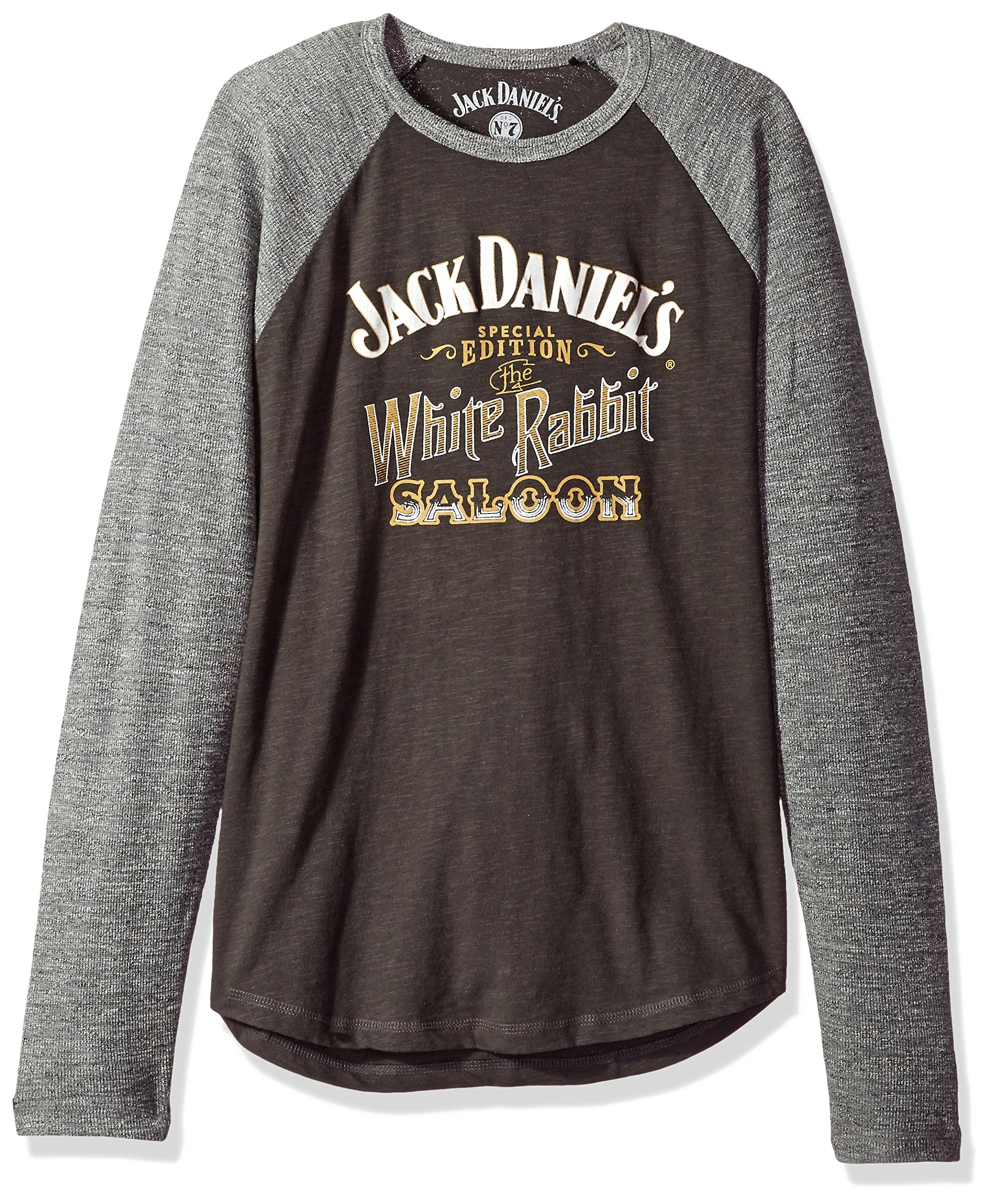 Lucky Brand Men's Jack Daniels White Rabbit Tee, Jet Black/Heather Grey, L