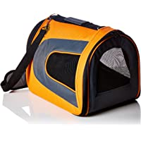Soft-Sided Pet Travel Carrier - [Airline TSA Approved] - Portable Traveling Kennel for, Cats, Small Dogs and Puppies by Pet Magasin (Large, Orange)
