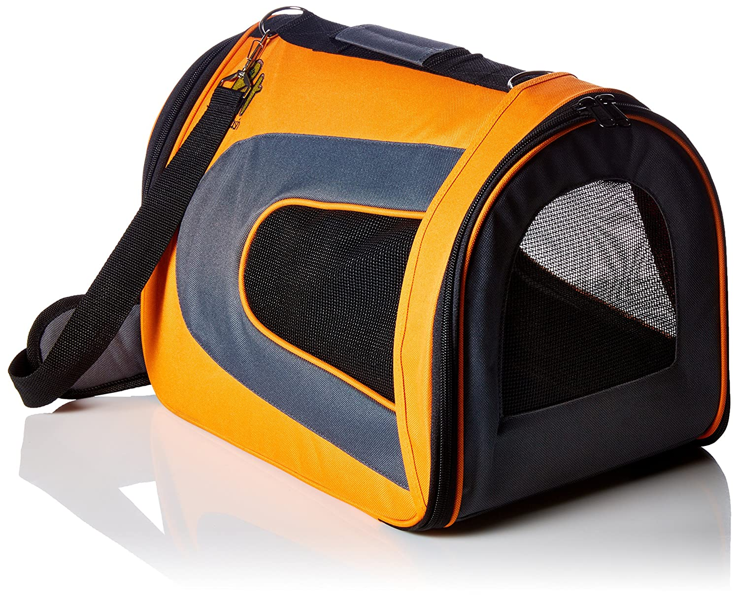 orange Large (18'' x 11'' x 10'') orange Large (18'' x 11'' x 10'') Soft-Sided Pet Travel Carrier [Airline TSA Approved] Portable Traveling Kennel for, Cats, Small Dogs and Puppies by Pet Magasin (Large, orange)