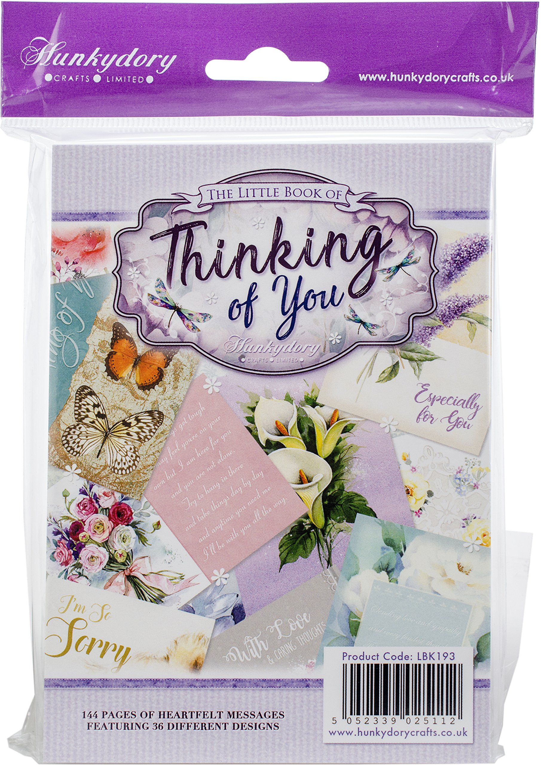 Hunkydory Little Book of Thinking of You - 144 pages approx 6x4-inches LBK193