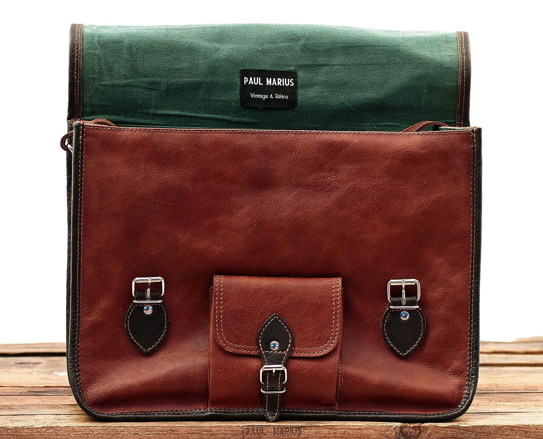 dernières tendances de 2019 vente pas cher belles chaussures PAUL MARIUS LeGrand Express(L) Vintage Leather Shoulder Bag (A4) Computer  bag Vintage & retro