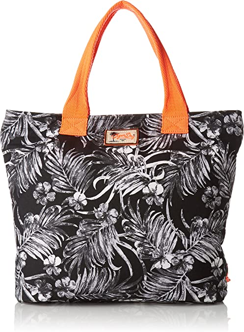 Superdry Summer Time Tote, Borsa a Tracolla Donna, Bianco