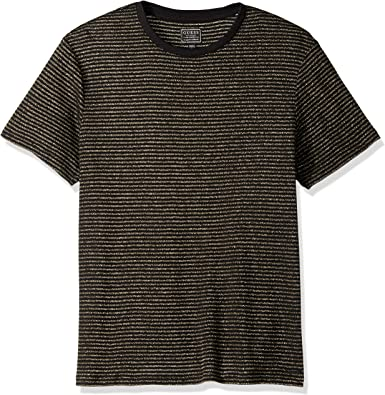 Guess Short Sleeve Satellite Crew Neck Shirt Camiseta para Hombre: Amazon.es: Ropa y accesorios