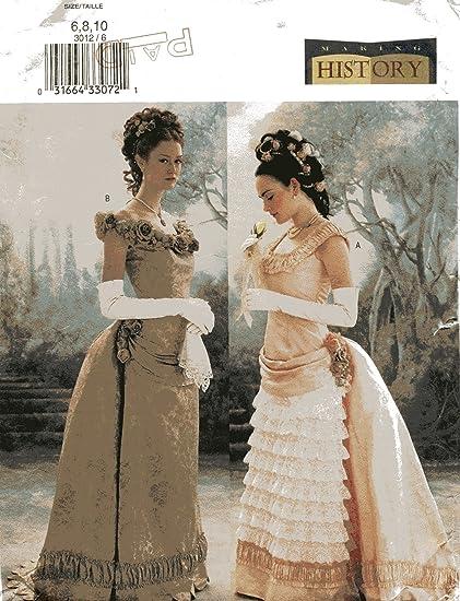 Butterick Making History Sewing Pattern 3012 Ladies Edwardian Dress Costume 6 8