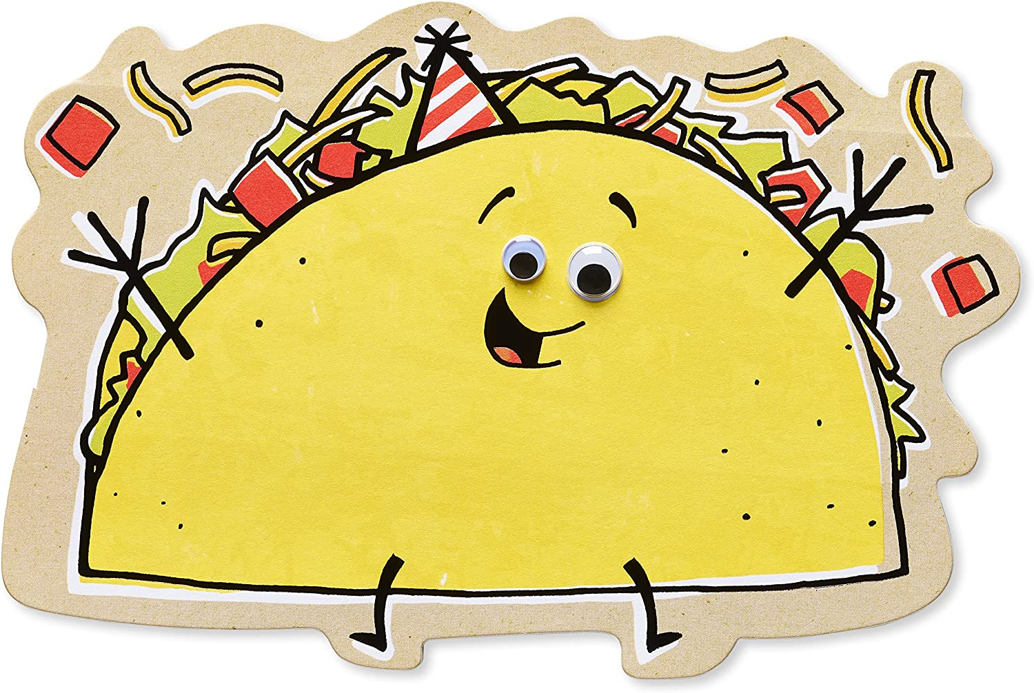 American Greetings Funny Birthday Card (Taco)