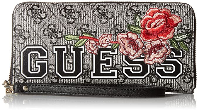 Guess - Vikky, Carteras Mujer, Multicolor (Black Floral/Bkf), 21x10x2
