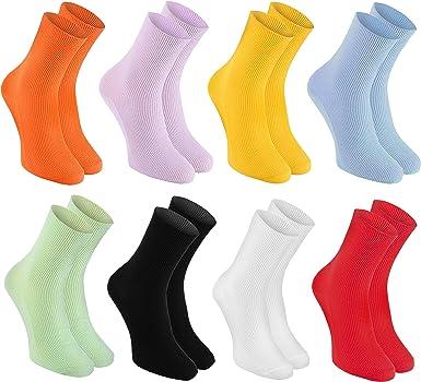 Rainbow Socks - Hombre Mujer Calcetines Diabéticos Sin Elasticos ...