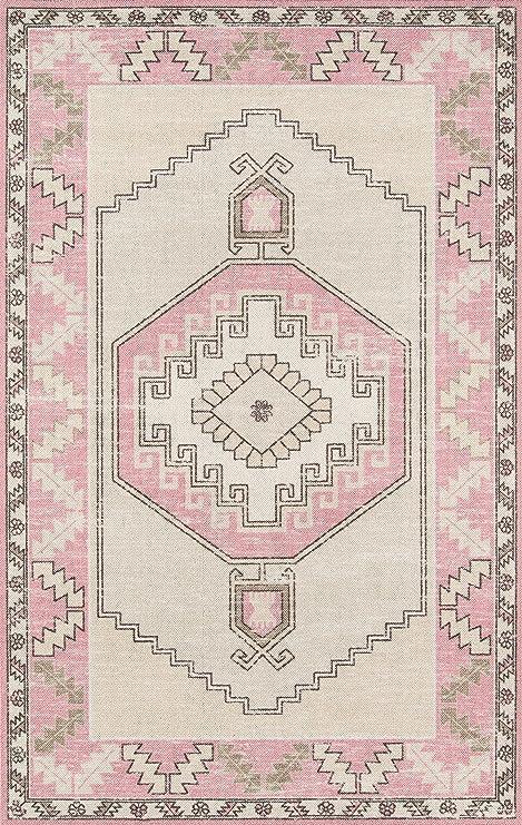 Momeni Anatolia Wool And Nylon Area Rug 2 X 3 Pink Furniture Decor