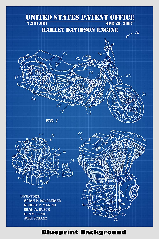 Amazon.com: Harley Davidson Motorcycle + Engine And ... on