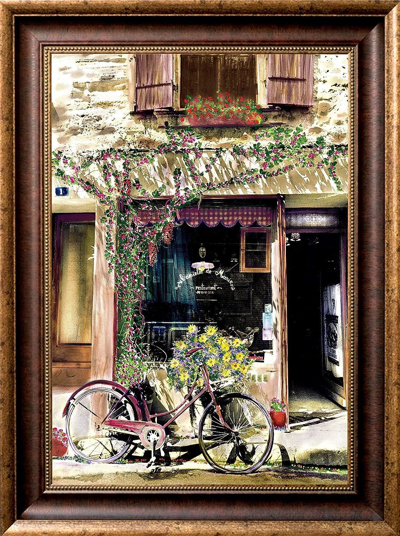 Amazoncom Bike At The Restaurant Artist Signed European Art