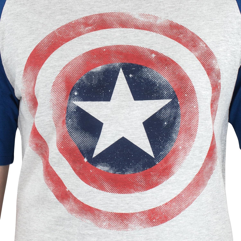 Marvel Avengers Maglietta a maniche corta per uomo di Capitan America