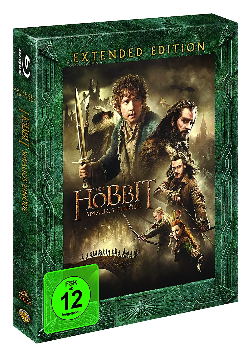 Details About Der Hobbit Smaugs Einöde Extended Edition 3 Disc Blu Ray Box Set Dt Goods