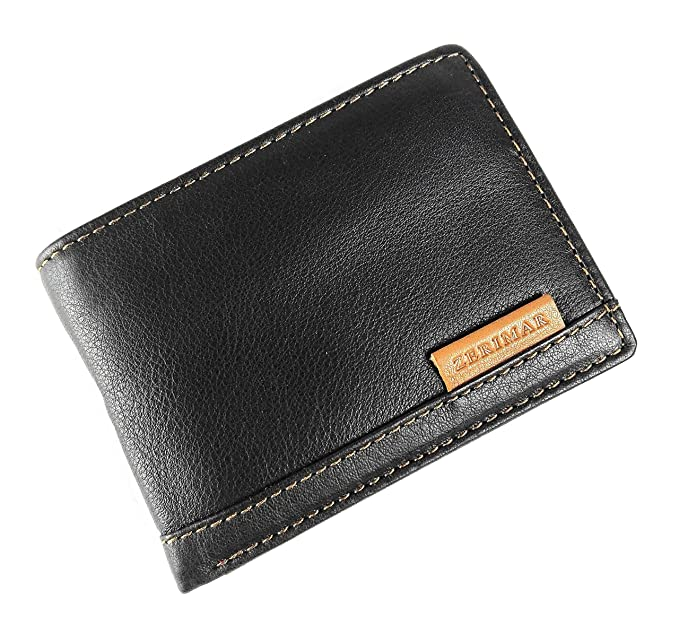 a68949cbcee Zerimar Leather Wallet Men's Wallet Women's Wallet Color Black. Size 3,9 x 2