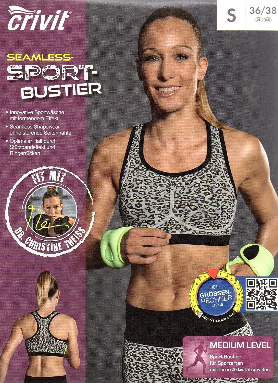 Crivit Mujer de Seamless – Sujetador deportivo, Medium Level S (36/38): Amazon.es: Deportes y aire libre