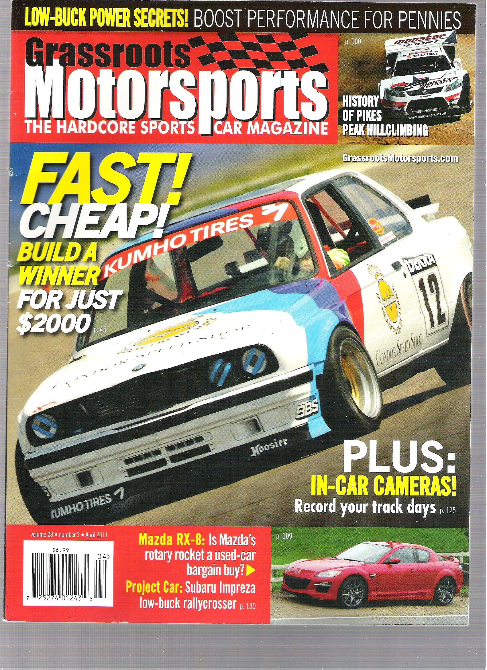 Download Grassroots Motorsports Magazine (Fast! cheap! Build A winner For $2,000, April 2011) pdf epub