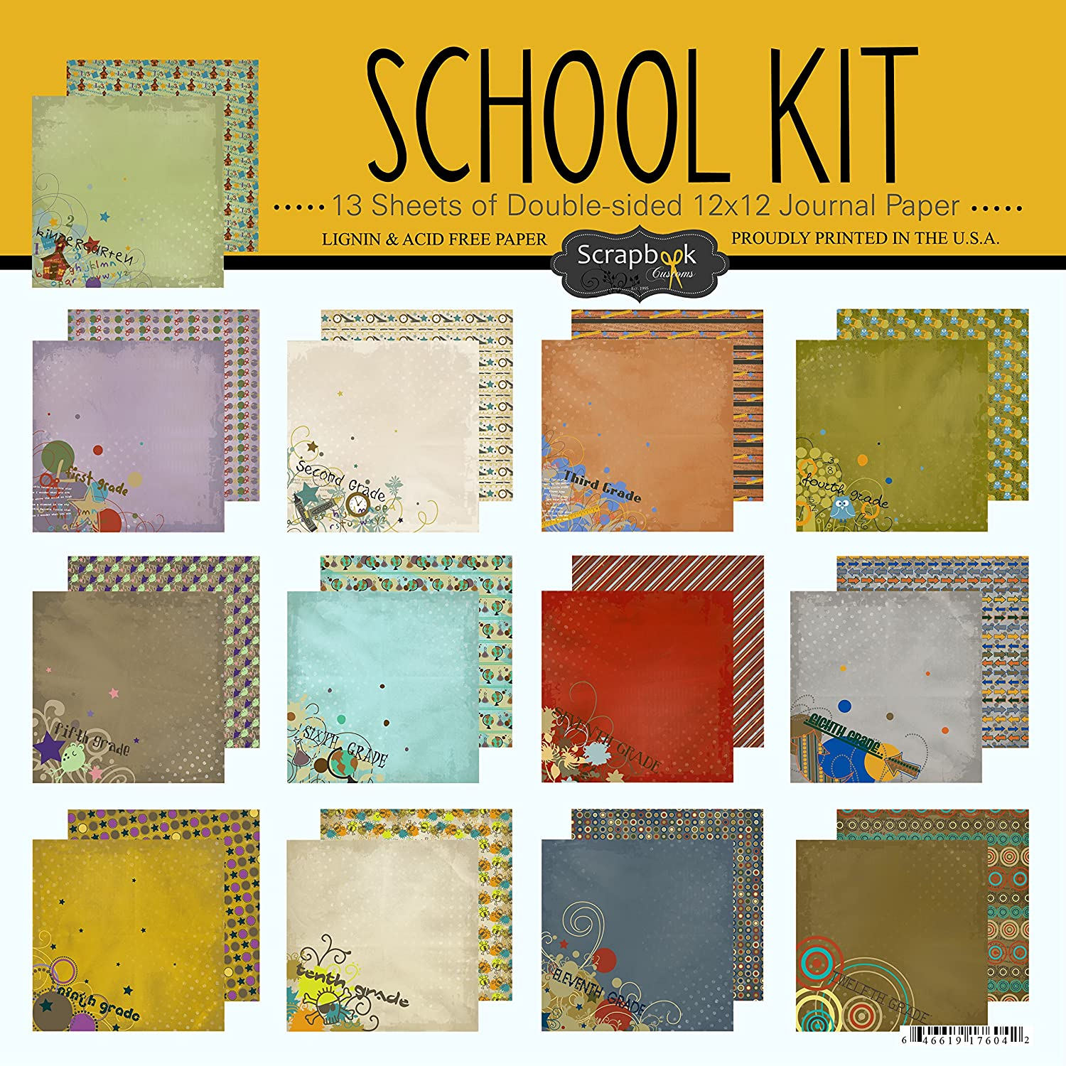 Scrapbook Customs School Scrapbook Kit Inc. 17604