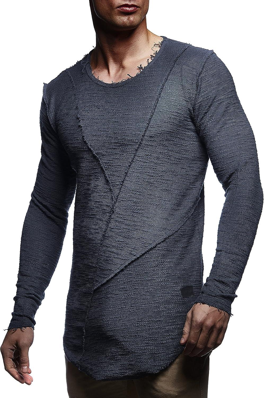 Leif Nelson Men's Pullover Hoodie Sweat Jacket Longsleeve Sweatshirt Jacket Basic Round Neck Long Sleeve Oversize Shirt Hoody Sweater Ln6323 by Amazon