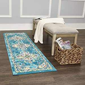"Home Dynamix Splash Andre Rug, 1'9""x7'2"", Ivory/Blue"