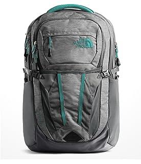 The North Face Womens Recon Backpack, Zinc Grey Light Heather/Kokomo Green