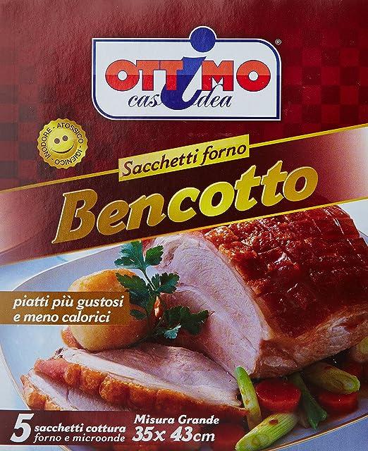 Ottimo - Bolsas Horno Bencotto, tamaño grande 35 x 43 cm - 5 ...