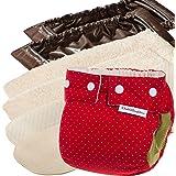 Windelmanufaktur Stoffwindeln: Einsteigerpaket, wiederverwendbare und waschbare Windeln aus Deutschland (9 bis 19 kg, Erdbeere)