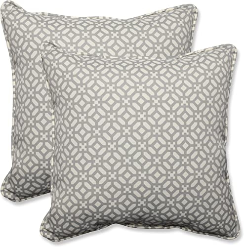 Pillow Perfect Outdoor Indoor in The Frame Pebble Throw Pillows, 18.5 x 18.5 , 2 Pack