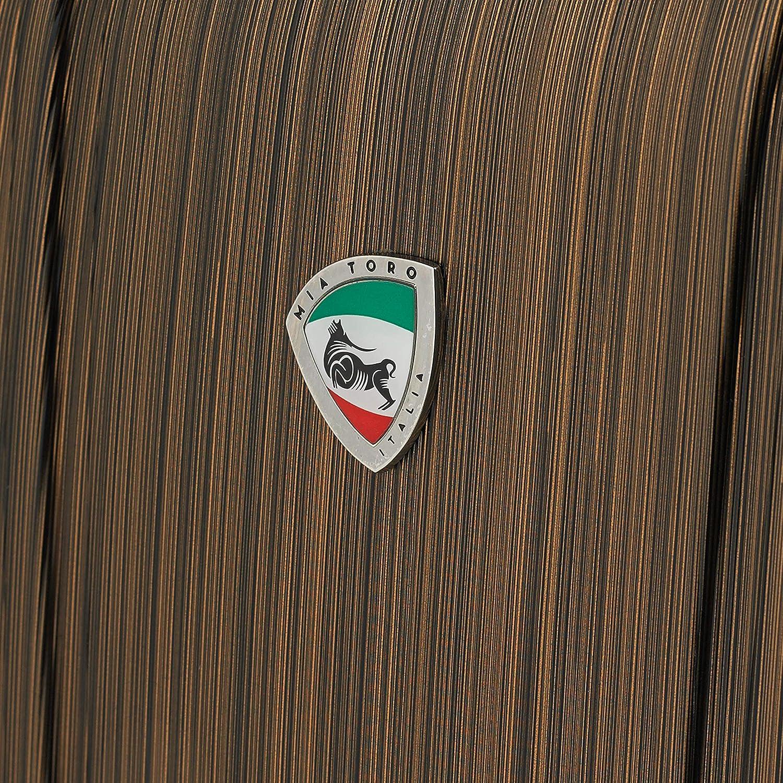 Mia Toro Italy Acciaio Hardside 28 Spinner Silver