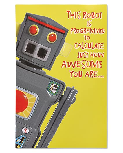 Amazon American Greetings Robot Birthday Card With Sound And Movement Office Products