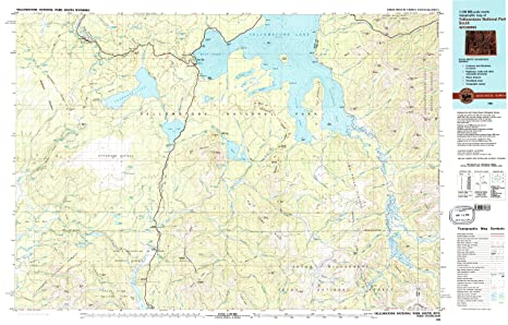 Topographic Map Of Yellowstone.Amazon Com Yellowstone National Park South Wy Topo Map 1 100000