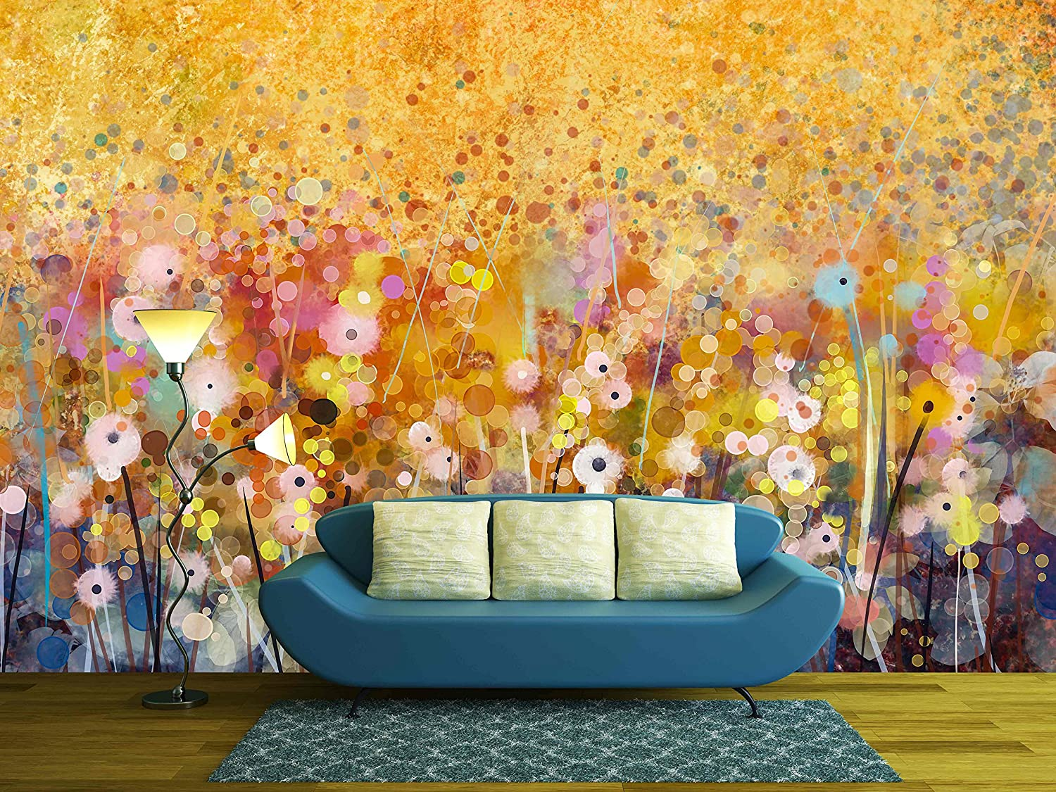 Watercolor Red Poppy Flowers Painting - Wall Murals | Wall26