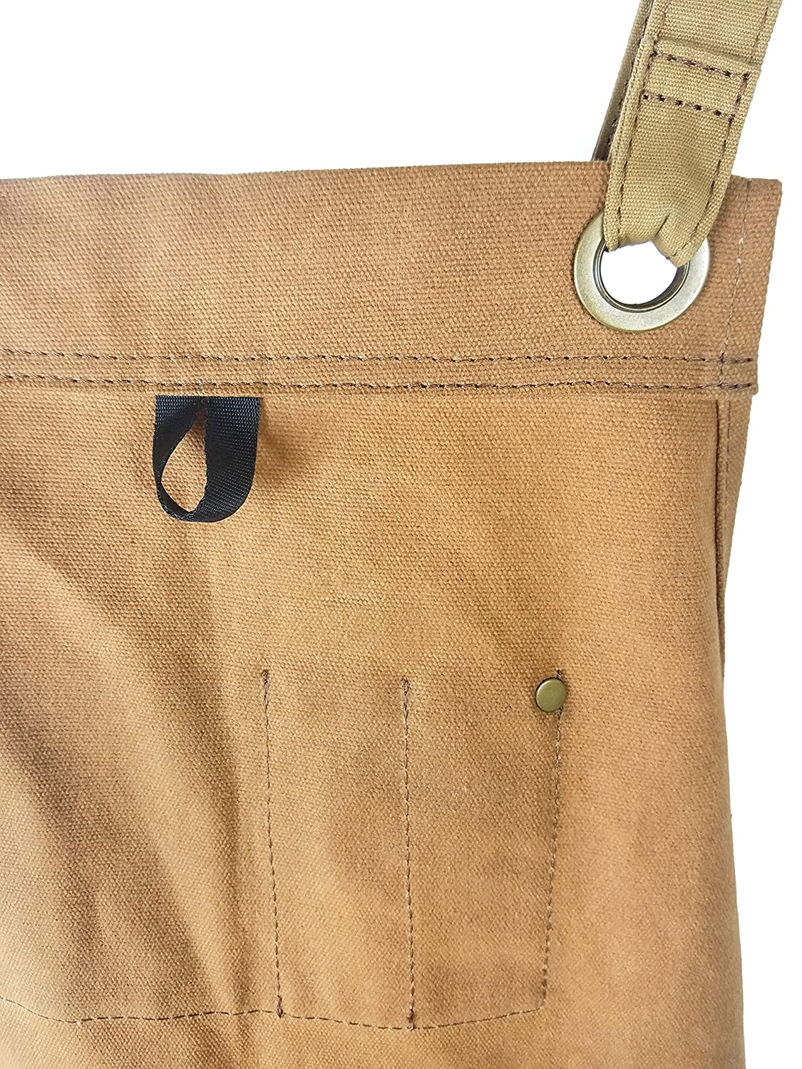 Woodworking Edition Adjusts M to XXL Hudson Durable Goods Heavy Duty Waxed Canvas Apron Brown