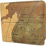 ce3d097372bd TRAVIS(トラヴィス) メンズ レディース 地図柄 ワールドマップ 二つ折り財布 ウォレット 1059