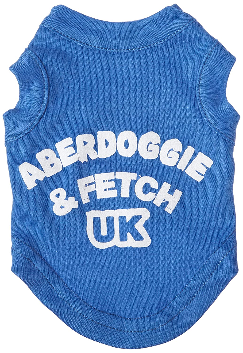 bluee Mirage Pet Products 8-Inch Aberdoggie UK Screenprint Shirts, X-Small, bluee