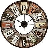 Ceanothe 34551 Color Loft Horloge Métal Multicolore 60 x 60 x 3 cm