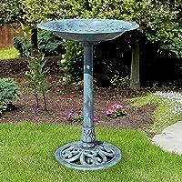 Best Choice Products Vintage Outdoor Garden Bird Bath