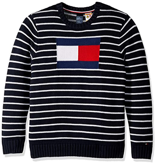 5cf71df3 Tommy Hilfiger Adaptive Men's Sweater with Magnetic Buttons at Shoulders at Amazon  Men's Clothing store: