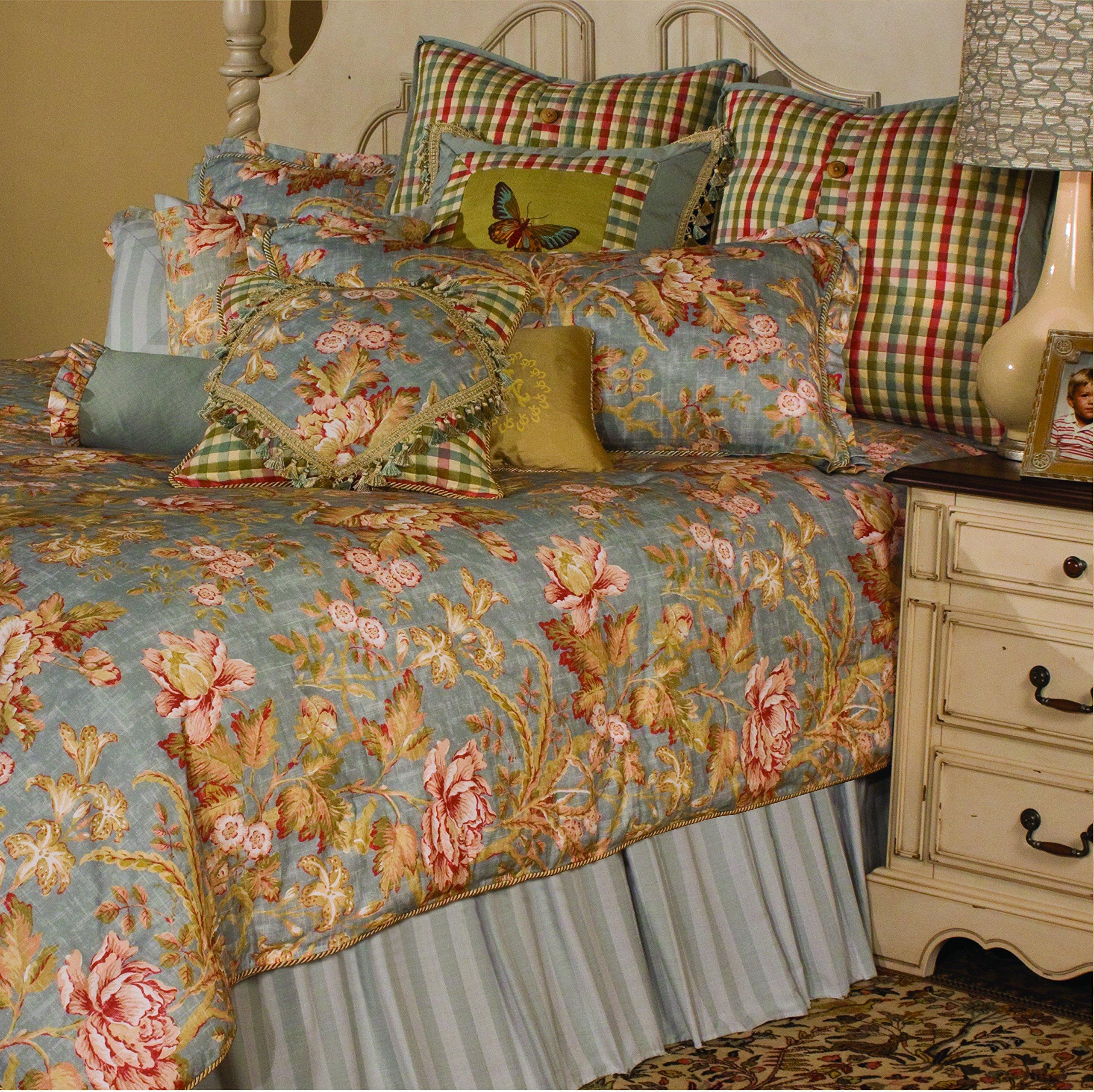 Michael Amini Tricia 12-Piece Comforter, Queen, Spa