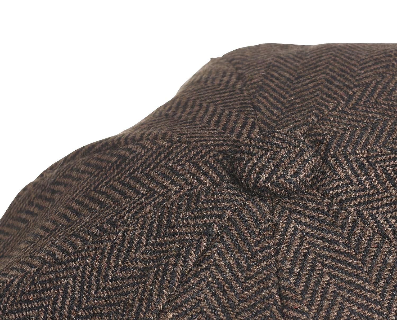 Peaky Blinders para Hombre marr/ón Dark Brown Herringbone Large Boina