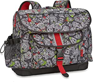 Bixbee Kids Backpack School Bag Zombie Camo, Gray, Large
