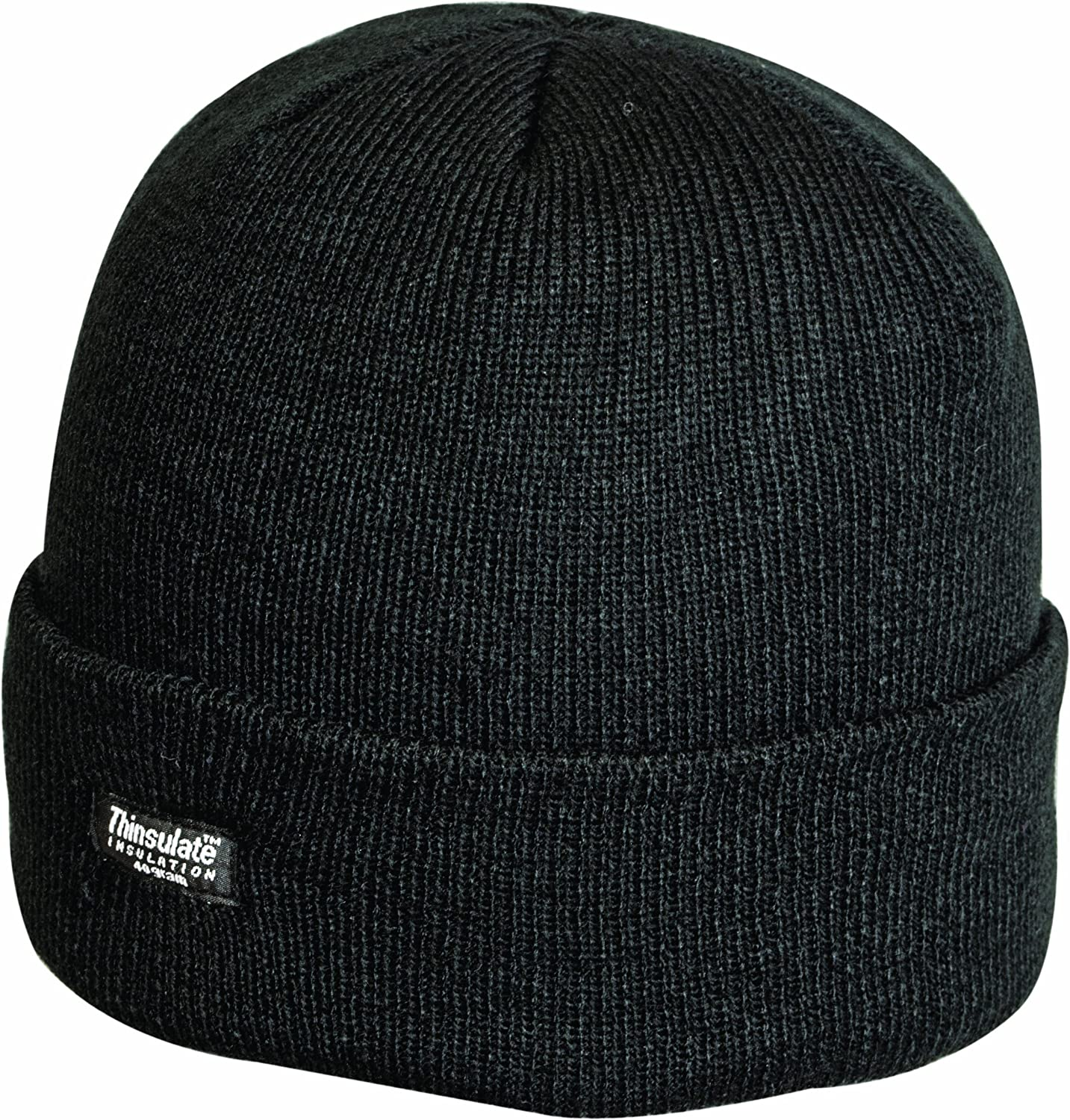 Louise23 Mens Outdoor Turn Up Extra Warm Thinsulate Lined Winter Fleece Beanie Ski Hat Fishing Walking Hiking Hat