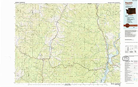 Amazon Com Yellowmaps Republic Wa Topo Map 1 100000 Scale 30 X