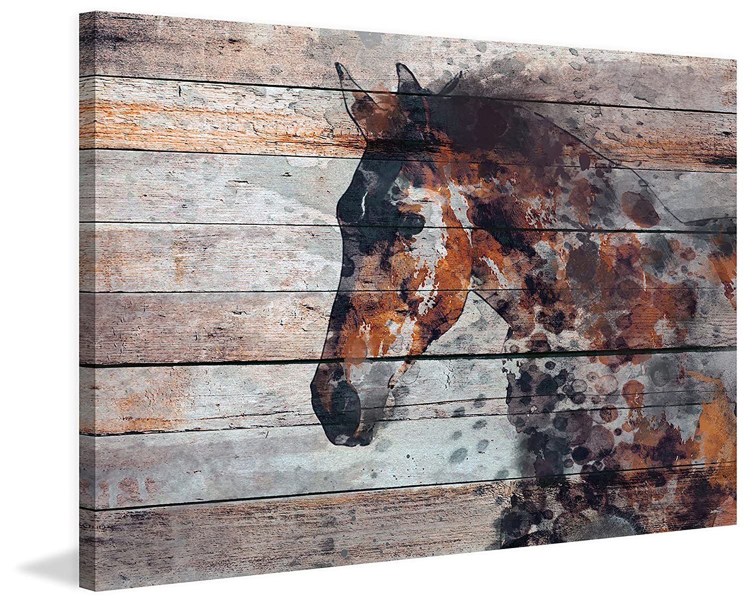 Marmont Hill Fire Horse by Irena Orlov Painting Print on Wrapped Canvas 36×24, Multicolor