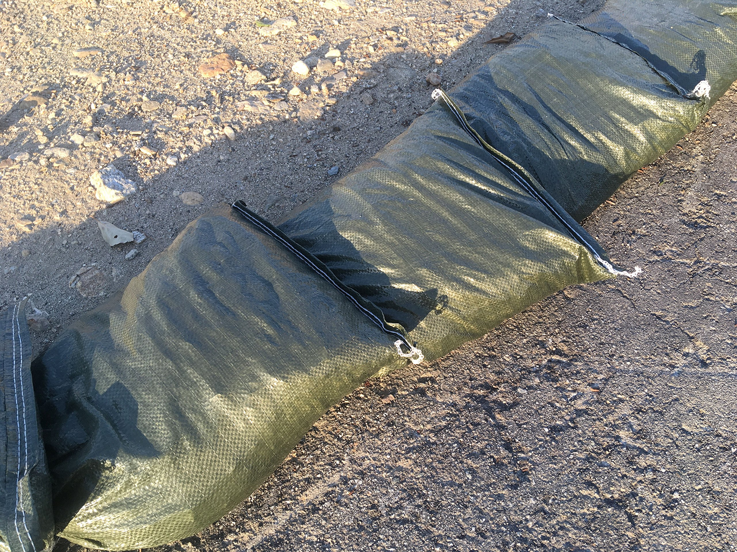 Polypropylene Olive Drab Sandbag - 15 Pieces