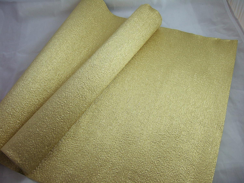 1- Oro Lamina di Alluminio Rotolo di carta crespa. 70g/mq. 50cm x 8metri. Molti usi come decorazioni, marketing, grande preferiti con le scuole e l' artigianato