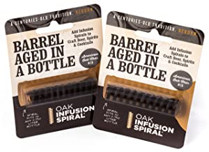 2 Pack - Barrel Aged in a Bottle Oak Infusion Spiral. Barrel Age Your Whiskey