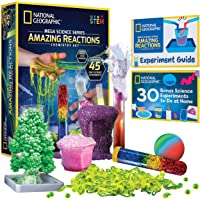 NATIONAL GEOGRAPHIC Amazing Chemistry Set - Mega Chemistry Kit with Over 15 Science Experiments, Make Glowing Worms, a…