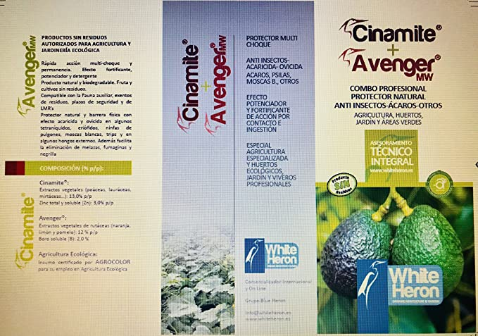 CINAMITE®+Avenger® (550 m2). Perfil Insecticida bioracional ...