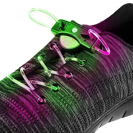 UltraByEasyPeasyStore 2 Pares Cambio de Color Cordones LED ...